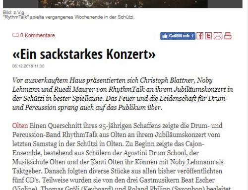 Neue Oltner Zeitung, 6. Dezember 2018